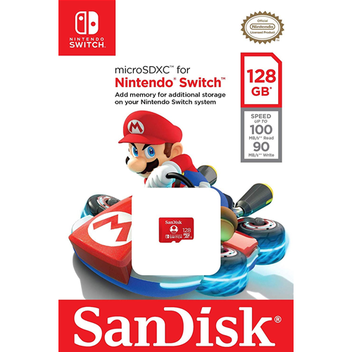 SanDisk MicroSDXC UHS-I Scheda per Nintendo Switch 128GB Official Nintendo Licensed Product, Rosso