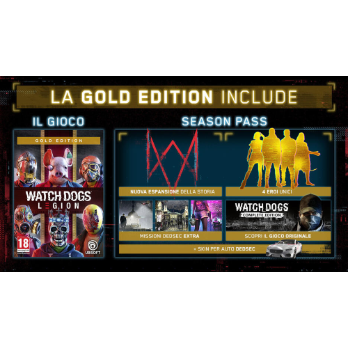 WATCH DOGS LEGION GOLD EDITION PS4/PS5 UK