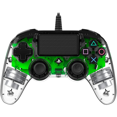 NACON CONTROLLER WIRED TRANSPARENT GREEN (VERDE TRANSPARENTE) PS4